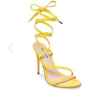 Steve Madden yellow Amberlyn strappy high heel